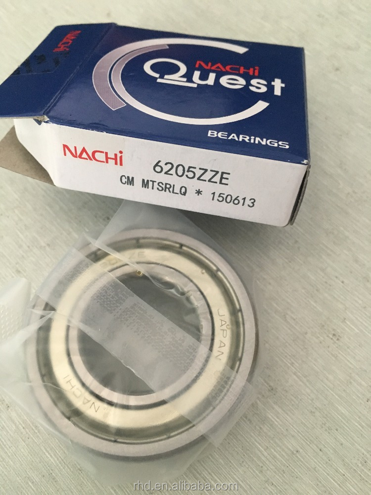 NACHI bearing 6205 zze deep groove ball bearing 6205zze