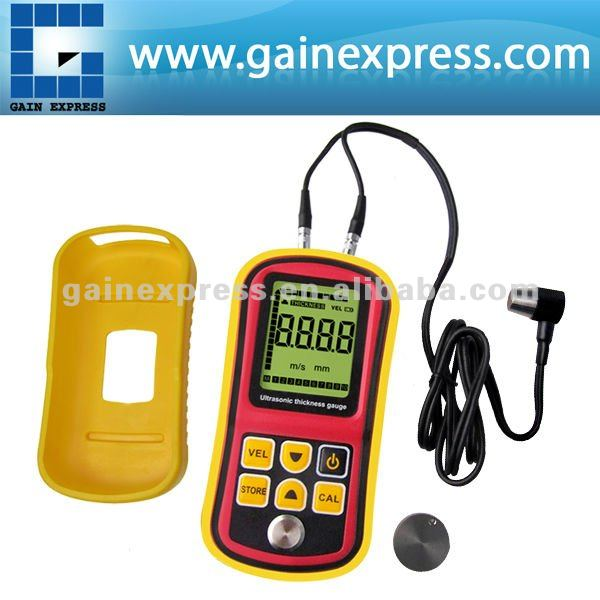 Digital Ultrasonic Wave Velocity <strong>Thickness</strong> Meter Tester Gauge Metal and Non-Metal 1.2~225.0mm (Steel) Range