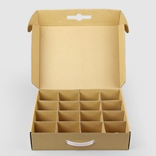 Wholesale Custom Made Corrugated Vegetable/Fruit Kraft Paper Packing Carton Box with Plastic Handle