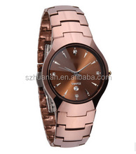 2018 fashion stainless steel couple wrist watch