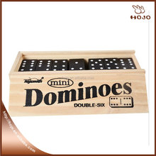 New toys wood black domino pack in wood box