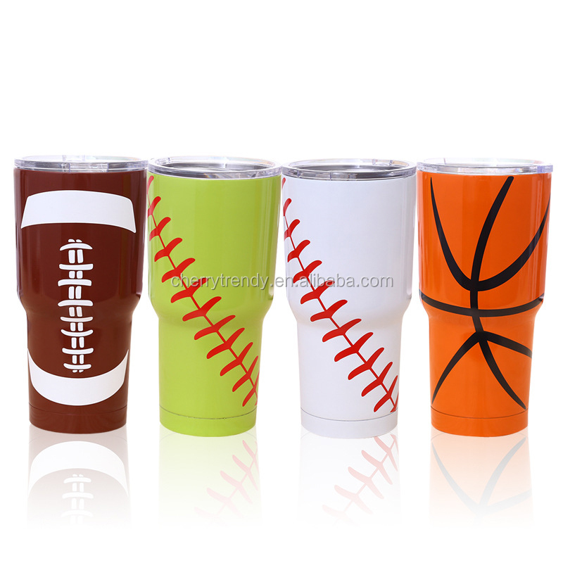 Baseball Softball Football Basketball Double Wall Vacuum Insulated Stainless Steel Tumbler