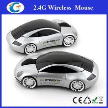Custom printed wireless computer mouse with car shape
