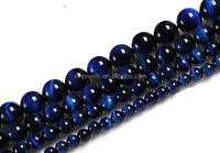 2015 Hot sale tiger eye dark blue semi precious stone beads