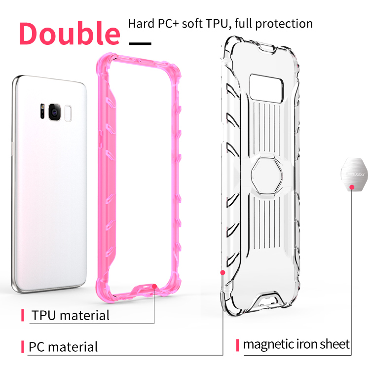 Oem Welcome hybrid protective clear case for galaxy s8,for samsung galaxy s8 clear cover