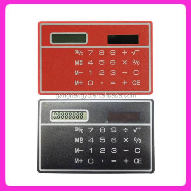 Manufacturer Wholesale Pocket Ultra-thin Credit Card Calculator