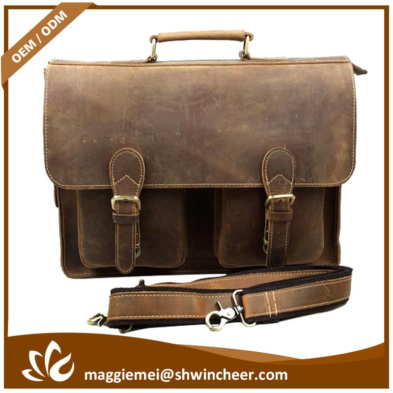 New arrival office bags leather men shoulder bag for laptop