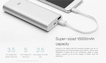 Original mi Power Bank 16000mAh mi 16000 External Battery Pack mi 16000mAh Charger