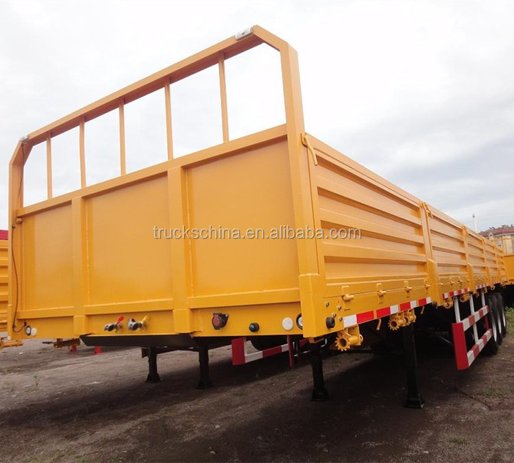 High Quality 3 Axle 40' Cargo Semi Trailer Lorry Trailer For Sale
