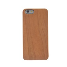 New design cherry wood+pc phone case for iphone6 mobile cell phone