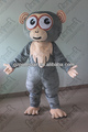 character grey fur monkey masoct costumes for party