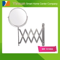 Hotel bathroom wall-mounted decorative chrome plated finish magnifying mirror