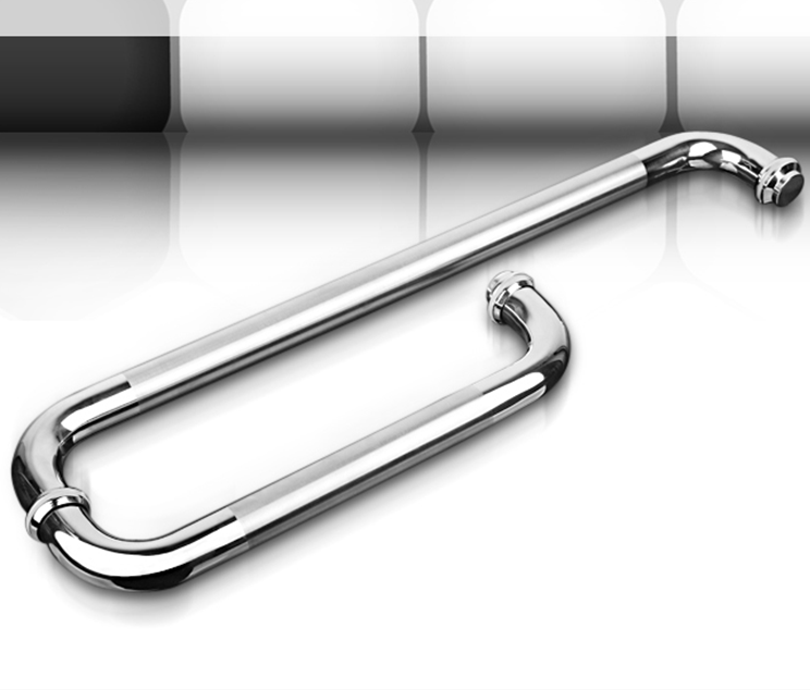 stainless steel shower room sliding glass door handles