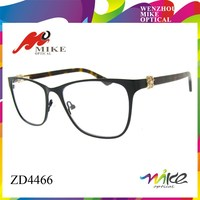 hot sale eyeglasses frame in china,stainlees steel glasses with flower women diamond
