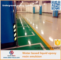 Liquid epoxy resin for floor parking paint