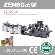 manufacturing machine ZB700C-240 Sheet feeding paper bag making machine