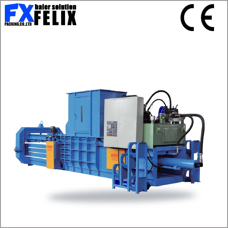 used clothes and textile compress cardboard baler horizontal automatic straw baler machine baling press