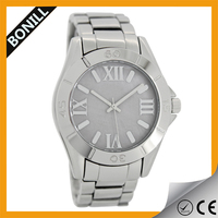 Water Resistant Feature and Unisex Gender simple classic stainless steel watch