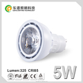 0-100% dimming lens anti glare spotlight 2700k 5w cob gu10 led with ce rohs certification