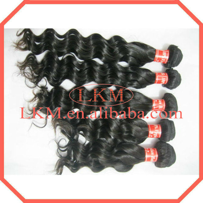 Sensational and natural hair extension cheap indian hair weaving natural wave