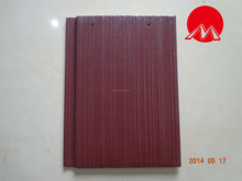 300*400mm Rose red streamline flat roof tile for villa