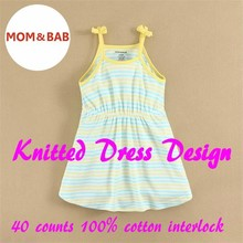 2015 mom and bab Summer Girls Dress Made of 100% Cotton Interlock for Age 12m to 6T