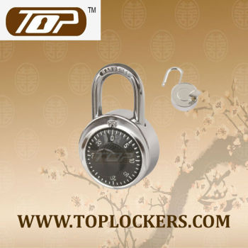 Combination padlock for locker