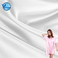 popular 100% Ulight Interlock Fabric soft Silk Polyester Taffeta Fabric for Bathrobe