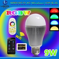 E27/E26 rgbw color changing smart wifi led bulb remote