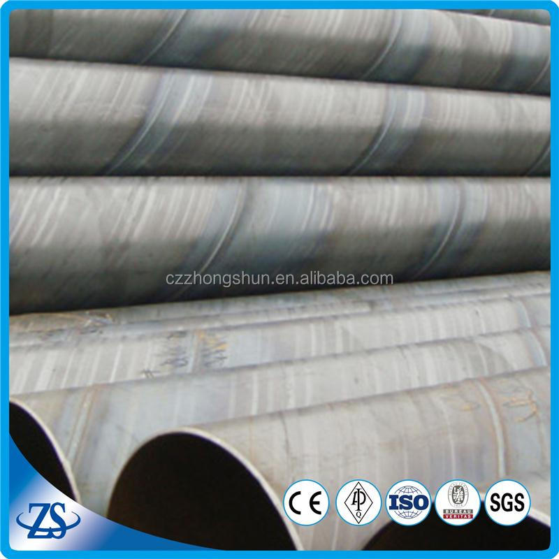 ssaw spiral welded steel construction material for water gas and oil transport