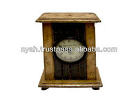 BRASS ANTIQUE TABLE CLOCK