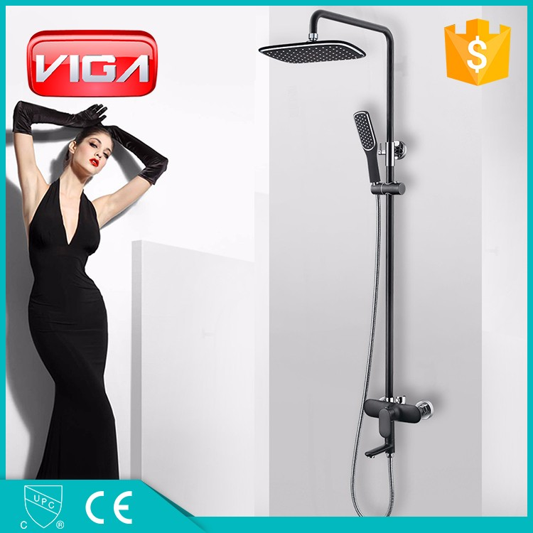 bathroom chrome hard tube brass single handle outdoor shower set