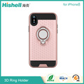 Two in one TPU and PC case with 3D ring stander for iphone8