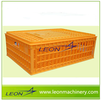 Leon 2016 best selling Plastic live chicken transport cage, poultry transport crate, Cages for chicken
