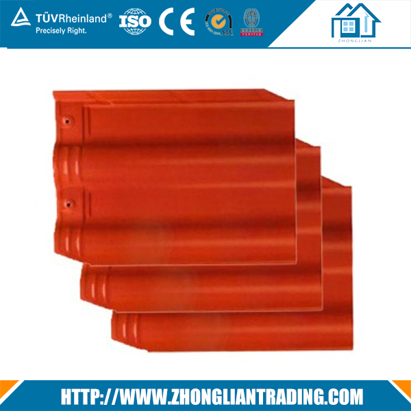 flat ceramic roof tile plastic construction material roof tile