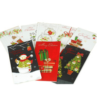 2016 funny flashing fashion design die cut paper Christmas card