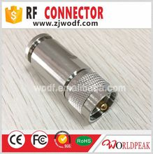 RF coaxial adapter F female to UHF male PL-259 connector