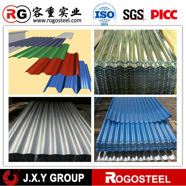 curve corrugated sheet steel zinc color coated corrugated roof sheet