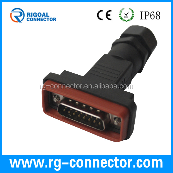 DB9 9pins female connector waterproof connector