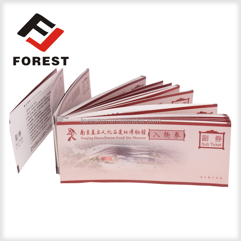 Hot sale adimission ticket, event tickets, thermal tickets printing