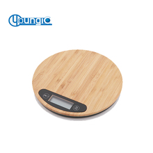 LCD Display Digital Bamboo Platform Kitchen Scale