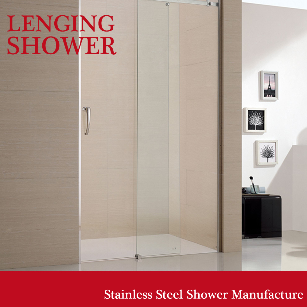 quality assured 3 sided enclosure frameless tempered glass shower cubicle