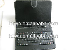 USB Cable+Keyboard PU briefcase for ipad 2/3/4
