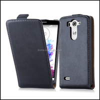 Magnetic Genuine Real Flip Leather Case Wallet Cover for LG G3 Mini