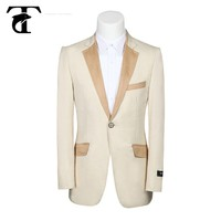 New Italy style 100% fine wool high quality hand made wine color wedding suit