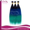 Ombre Straight Virgin Hair Ombre Brazilian Human Hair Extension 3pcs/lot Mix Length 1B blue green Ombre Hair Extensions