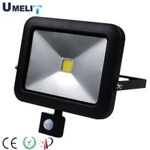 TUV qualify factory high quality IP65 waterproof pir sensor colored 10w 20w 30w 50w led flood light
