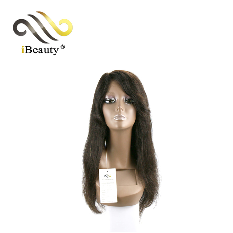 Low Cost 100 Precent Real Front Natural Malaysian Human Hair Front Lace Wig