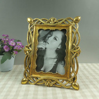 Antique gold photo frames for funeral decoration