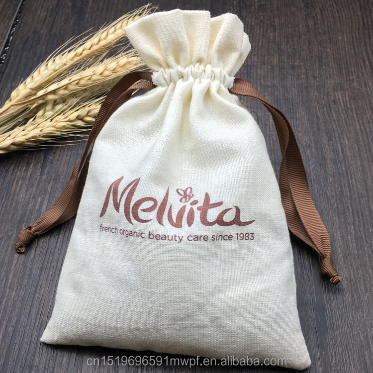 Customized Cotton and Linen Drawstring Pouch